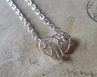 Geometry elephant chain ~ silver ~