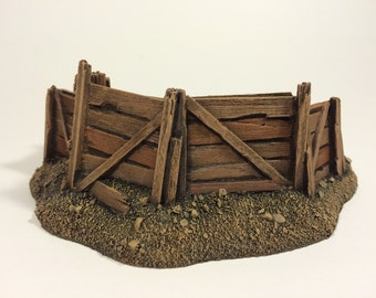28mm Unpainted Tall Medium Barricade Resin Defense Line Trench Terrain Scenery Wargaming