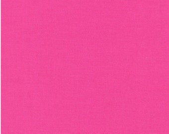 FREE Shipping (orders 35+ dollars) Robert Kaufman Kona Cotton Hot Pink Solid; 100% Cotton; Fat Quarter By the Yard: K001-1049 BRT. PINK