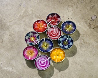 Floating Plumeria Flower Tea Lights 10 Delicate Pieces - FREE SHIPPING