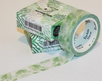 High Quality Green Leaves Japanese Washi Tape. 1.5x7m. Scrapbook tape, masking tape.