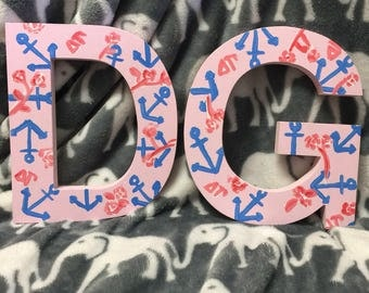 Custom Painted Greek Letters