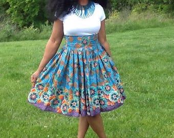 African skirt. African Print Skirt. Ankara Skirt.