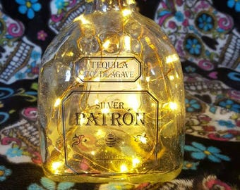 "Patron Light Up Upcycled Bottle ""Stickers"""