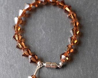 Brown Crystal Bracelet