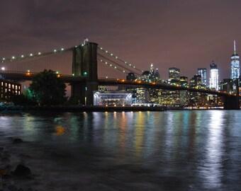 Brooklyn Bridge Nights #101 (12in x 18in poster)