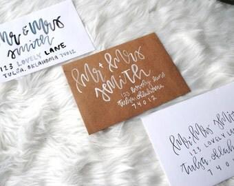 Custom Calligraphy Addressed Envelopes