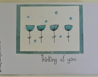 Handmade Watercolor Greeting Cards Thinking of You