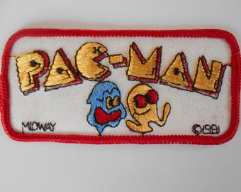 Vintage Pac Man Patch, Fun and Colorful Patch, Pac Man Video Game Patch Midway 1981