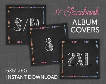 Lularoe Size Cards, Black Lularoe Cards, Lularoe Facebook Covers, Size Cards - Chalkboard, Lularoe Black