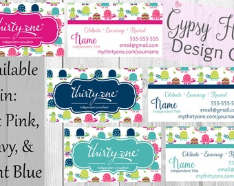 Direct Sales Business Card- Topsy Turtles