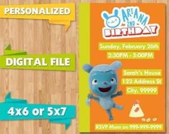 Messy Goes to Okido Birthday Party Invite Invitations Baby Shower Printable CUSTOM