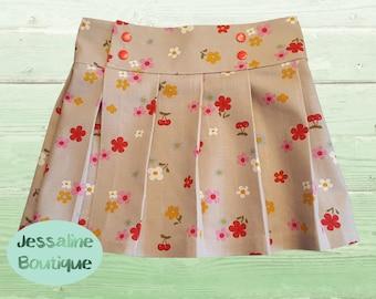 Girls Pleated Kilt-style Skirt (Sizes 3months - 10years)