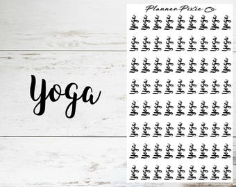 Planner Stickers // Yoga // Workout // Fitness