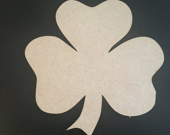 Shamrock Blank Plaque 3mm MDF Perfect for St Patrick's Day