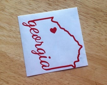 Georgia Spirit State Vinyl Decal