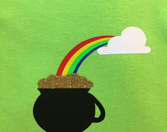 St. Patrick's Day Rainbow and Pot of Gold Shirt