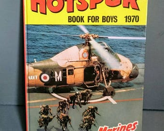 Hotspur Book for Boys 1970 Vintage Boys  Annual Unclipped