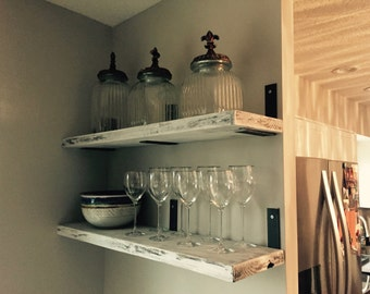 Rustic iron Floating shelves