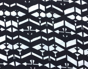 Knit Fabric, Jersey Knit Fabric, Fabric by the Yard, Stretch Fabric, Abstract Fabric - Black and White Abstract