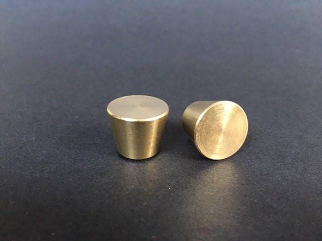 Brass Cabinet Pull Small Brass Cone Shaped Knob Brass