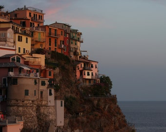 Cinque Terre - Manarola, Italy - Print Photograph/Colours/Landscape/Travel Photography/Sunset/Wall Art/Home Decor