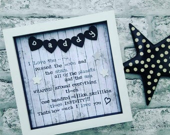 Fathers day Gift, Present For Dad, Daddy Frame, Dad Gift From Kids, Present For Grandad, Present For Daddy, Personalised Scrabble Frame.