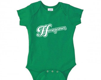 HOMEGROWN - Hand Screen Printed Baby Bodysuit
