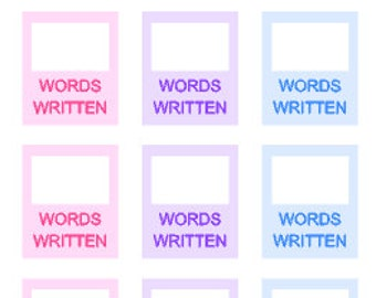 Words Written // Author Trackers // Student Tracker // Stickers // Planner