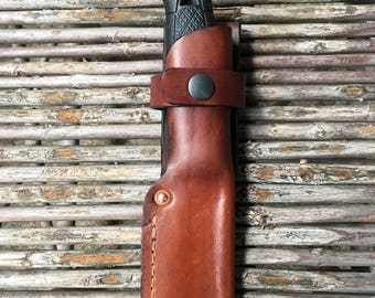 Mora Garberg handmade leather knife sheath .