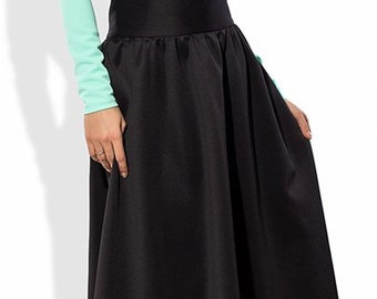 Blue with a black skirt suit for a celebration at Elitewomans, evening dress, charming dress