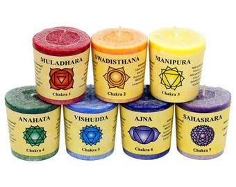 Chakra Candles & Holders Set