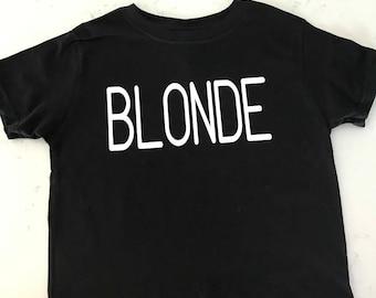 brunette,blonde,bronde/kids/onsie/toddler/tee/youth