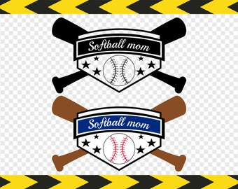 Softball mom SVG DIY Shirts Sign Gifts Decal Clipart Silhouette Cricut cut files Dxf Pdf Png