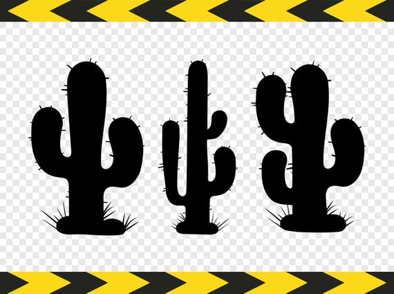 Cactus Svg Clipart Diy Shirt Car Decal Sticker Silhouette