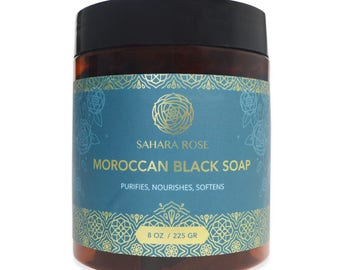 Sahara Rose moroccan black soap beldi soap Moroccan Black Soap