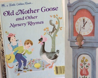 A Little Golden Book - Old Mother Goose and Other Nursery Rhymes - Alice and Martin Provensen - Vintage Kids Books - Classics - Preschool