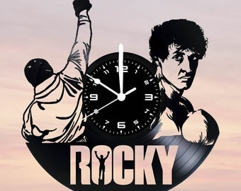 Vinyl disc clock on ROCKY BALBOA (handmade)
