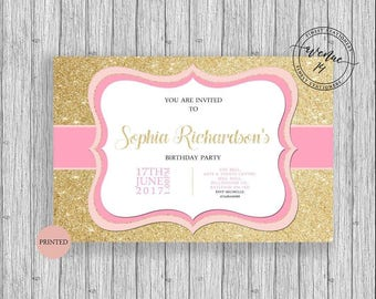 Birthday Girl Party Invitations A5 Personalized Printed Flat