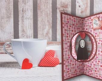 Valentine, Valentine, faceless, 3D, spirited away, romantic gift