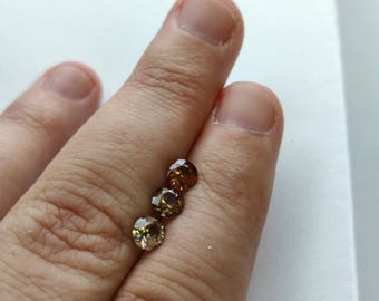 Natural Untreated Zircon 5mm faceted gemstone 1pc