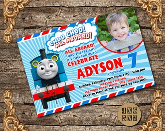Train Invitation / Train Birthday Invitation / Thomas Train Invitation / Thomas Birthday / Thomas Invitation  / Train Birthday Party