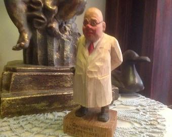 Vintage Georg Heisswolf Hand Carved Wood Figurine / Statue