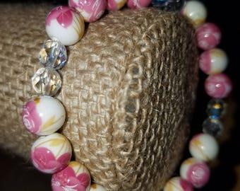 Spring Fling floral beaded bracelet