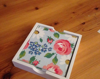 Hand decorated wooden coasters