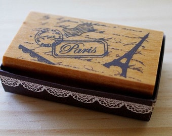 CLEARANCE SALE - Girlish Stamp - Paris