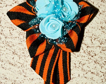 Feed May 9 brooch ribbons, holiday, black, beads, payetka, pastes, flowers, jewelry