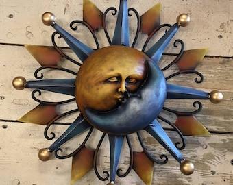 Wall Sun and Moon / Eclipse / Garden Sun and Moon / Decorative Sun and Moon / Kissing Sun and Moon