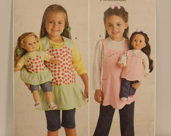 Simplicity 2465 children and doll apron pattern