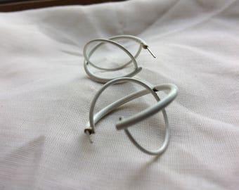 White Space Sphere Post Earrings